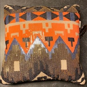 Tribal Sequin Accent Pillow